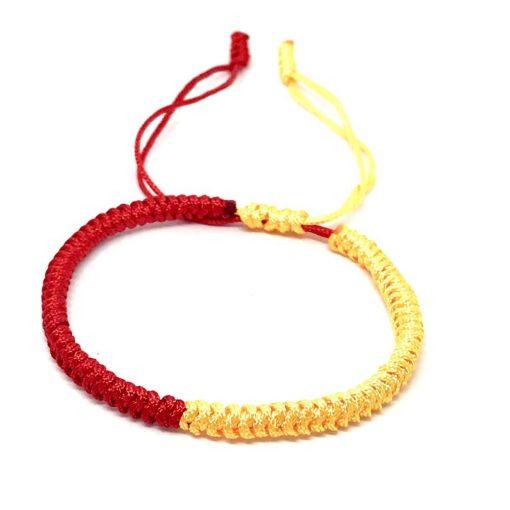 Sárga piros Tibeti karkötő