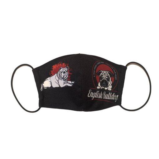 Angol bulldog kutyás szájmaszk
