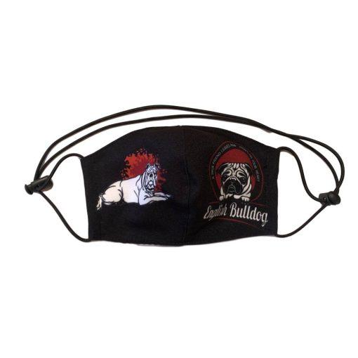angol bulldog kutyás nyakba akasztható szájmaszk