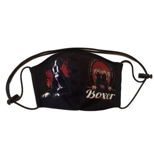 boxer kutyás nyakba akasztható szájmaszk